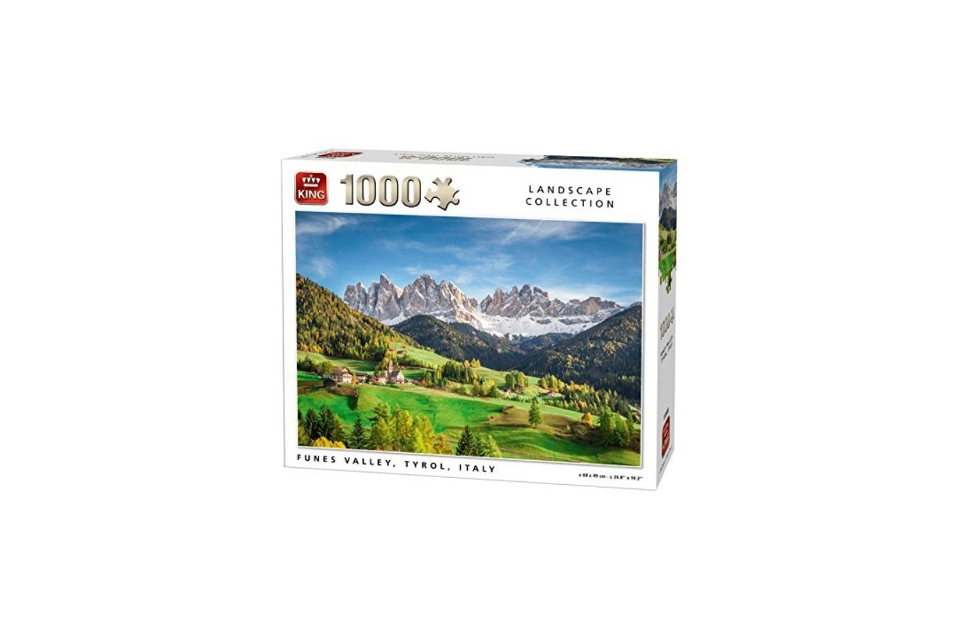 Puzzle King - Funes Valley, Tyrol, Italy, 1.000 piese (05708) imagine