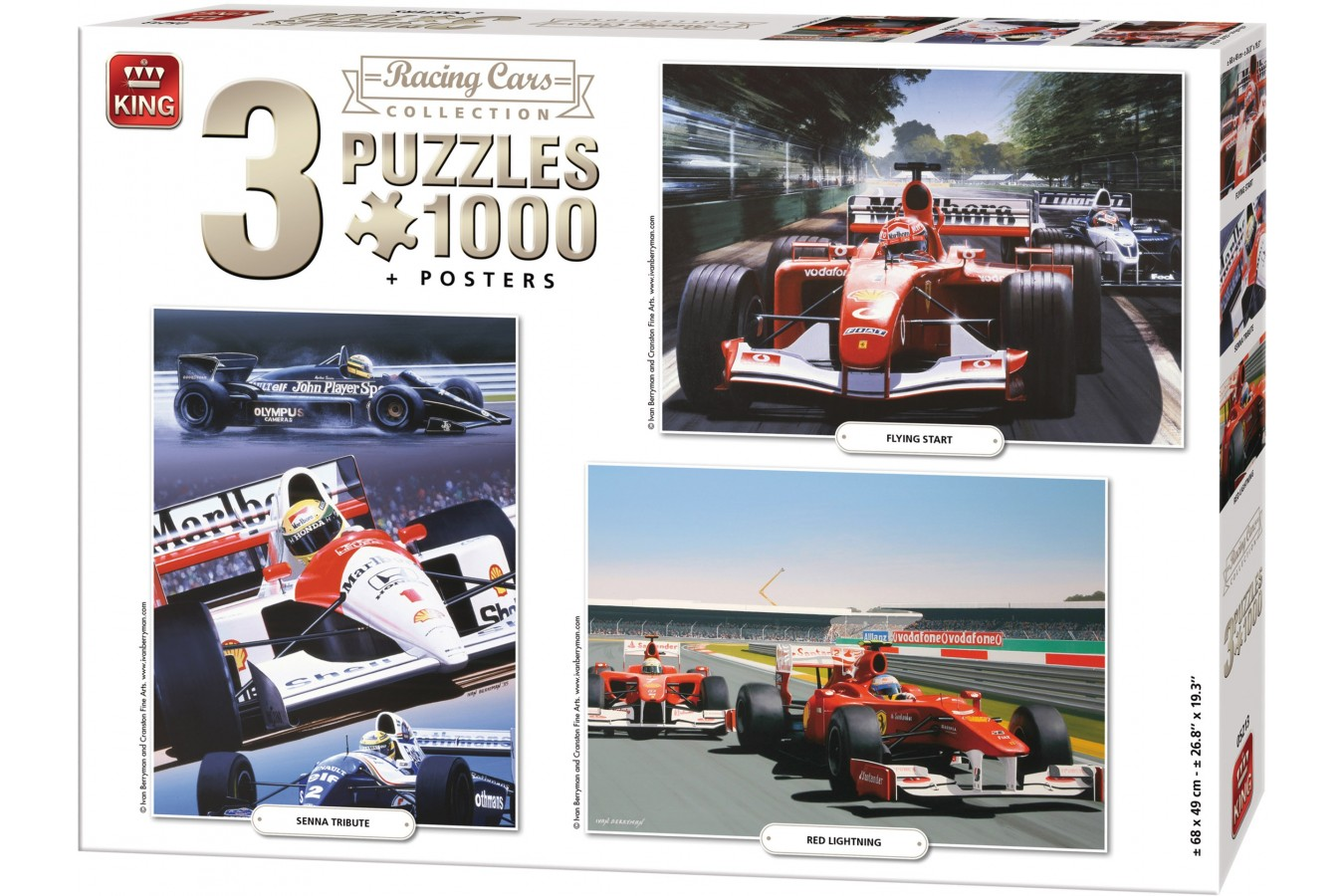 Puzzle King - Racing Cars Collection, 3x1.000 piese (05213) imagine