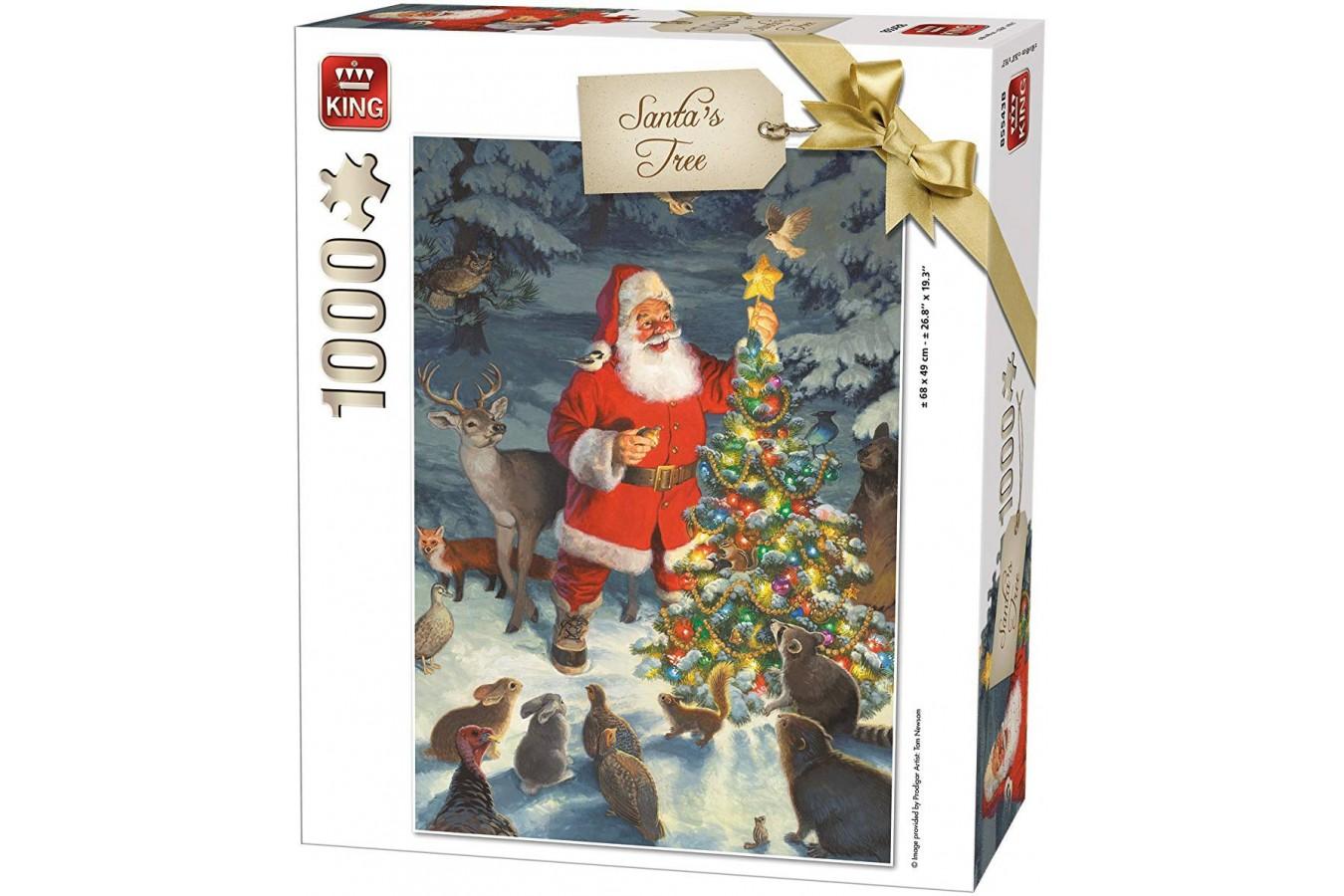 Puzzle King - Santa's Tree, 1.000 piese (05743) imagine