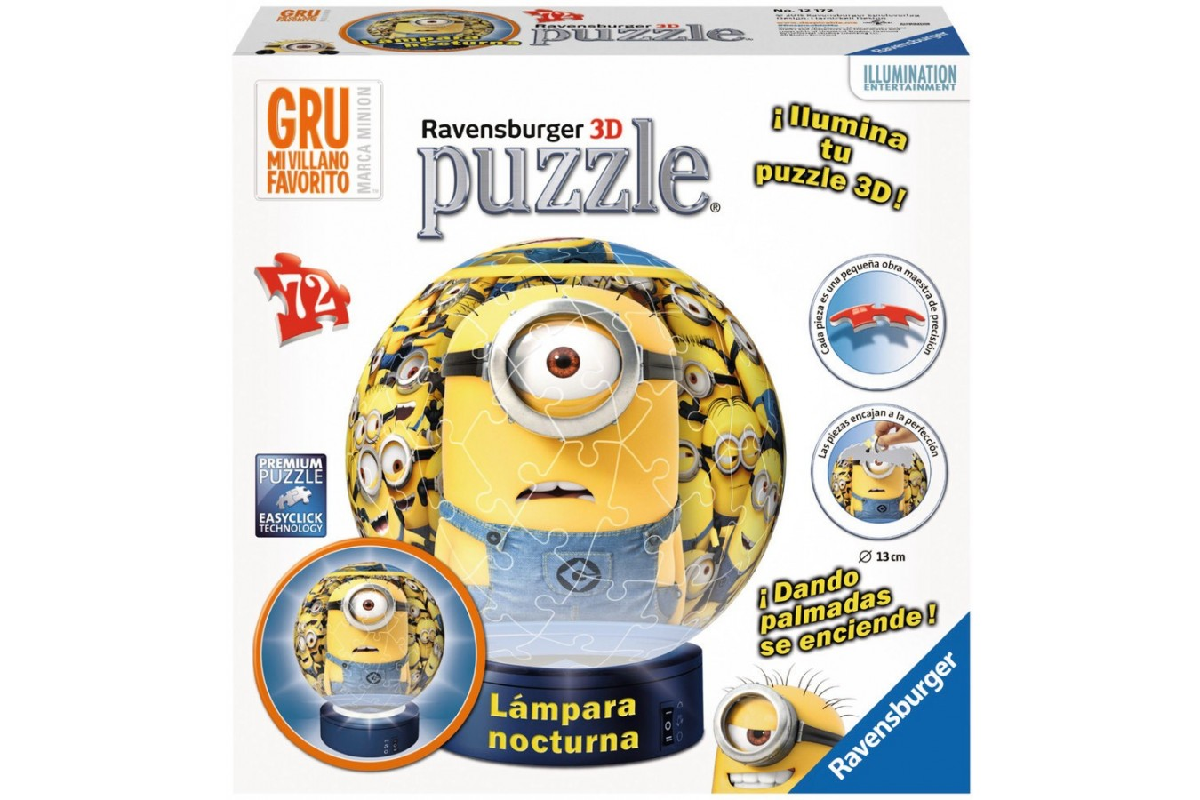 Puzzle glob Ravensburger - Minioni Cu Lumina, 72 piese (12172)