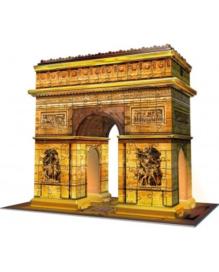 Puzzle 3D Ravensburger - Arch of Triumph at Night, 216 piese, cu LED (12522)