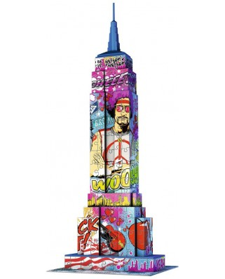 Puzzle 3D Ravensburger - Empire State Building Pop Art, 216 piese (12599)