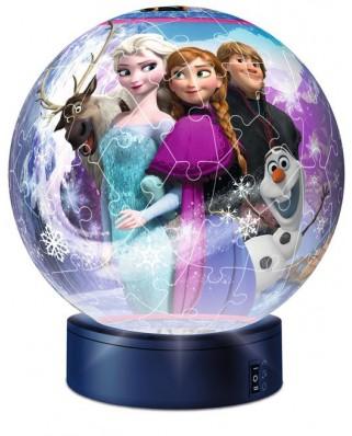 Puzzle 3D Ravensburger - Frozen, 72 piese, cu LED (12190)