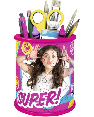 Puzzle 3D Ravensburger - Girly Girls Edition - Pencil Cup Soy Luna, 54 piese (12095)