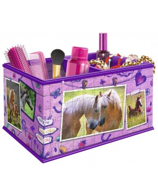 Puzzle 3D Ravensburger - Girly Girls Edition - Storage Box, 216 piese (12072)
