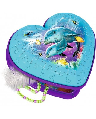 Puzzle 3D Ravensburger - Heart Box - Underwater World, 54 piese (12118)