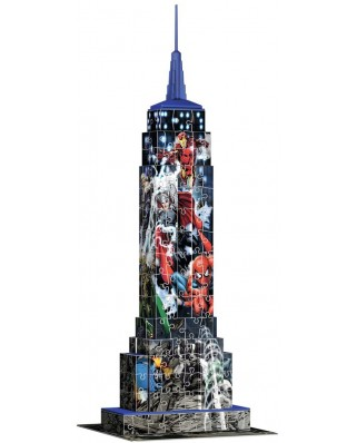 Puzzle 3D Ravensburger - Marvel Empire State Building, 216 piese (12517)