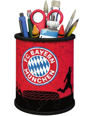 Puzzle 3D Ravensburger - Pencil Cup - FC Bayern, 54 piese (11215)