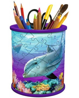 Puzzle 3D Ravensburger - Pencil Cup - Underwater world, 54 piese (12116)
