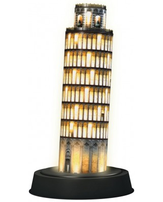 Puzzle 3D Ravensburger - Pisa by Night, 216 piese, cu LED (12521)