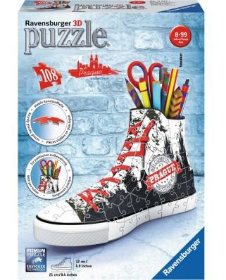 Puzzle 3D Ravensburger - Sneacker - Prague, 108 piese (11224)
