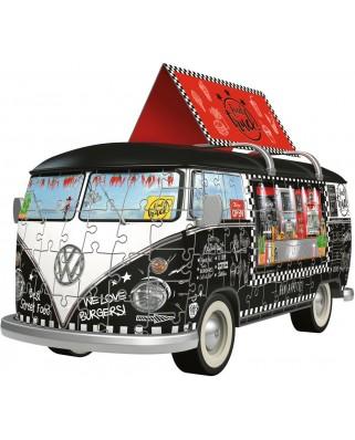 Puzzle 3D Ravensburger - Volkswagen T1 - Food Truck, 162 piese (12525)