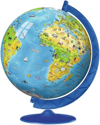 Puzzle 3D Ravensburger - World Map in French, 180 piese (12339)