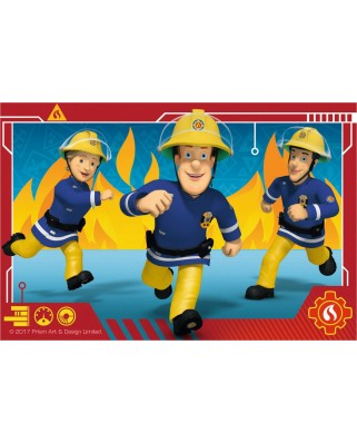 Puzzle cuburi Ravensburger - Cube Fireman Sam, 6 piese (07437)