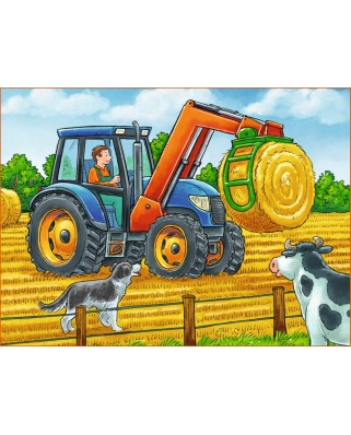 Puzzle cuburi Ravensburger - Vehicles On Farm, 12 piese (07432)