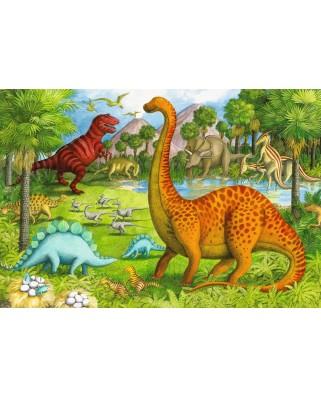 Puzzle de podea Ravensburger - Dinosaur Friends, 24 piese XXL (05266)