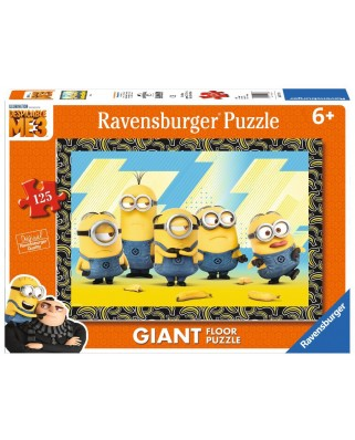 Puzzle de podea Ravensburger - Minions, 125 piese XXL (09770)