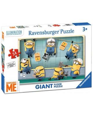 Puzzle de podea Ravensburger - Minions, 24 piese XXL (05525)
