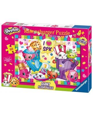 Puzzle de podea Ravensburger - Shopkins, 60 piese XXL (05475)