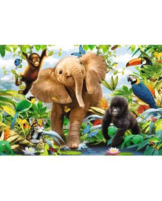Puzzle de podea Ravensburger - The Jungle, 24 piese (05347)