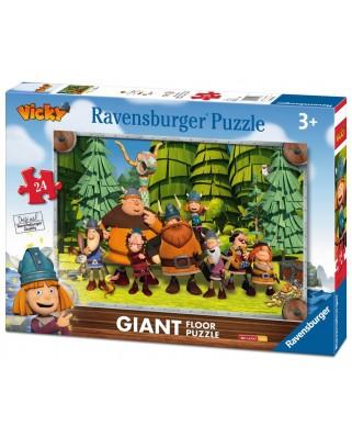 Puzzle de podea Ravensburger - Wickie, 24 piese XXL (05462)