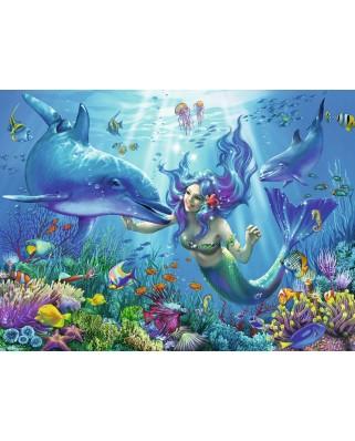 Puzzle fosforescent Ravensburger - Luminous Underwater Paradise, 200 piese (13678)