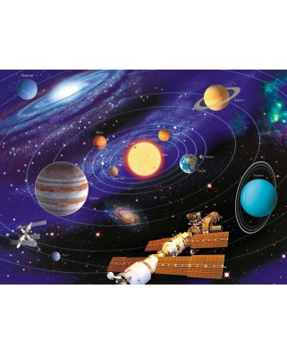Puzzle fosforescent Ravensburger - Solar System, 500 piese (14926)