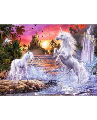 Puzzle fosforescent Ravensburger - Star Line - Beautiful Unicorns, 500 piese (14873)