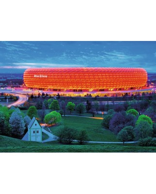 Puzzle fosforescent Ravensburger - Star Line Color Collection - Allianz Arena, 1200 piese (16187)