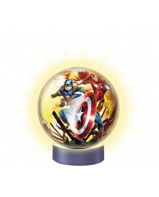 Puzzle glob Ravensburger - Avengers, 72 piese, cu LED (11798)