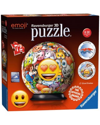 Puzzle glob Ravensburger - Emoji, 72 piese (12198)