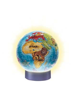 Puzzle glob Ravensburger - The Children World Globe, 72 piese, cu LED (12184)