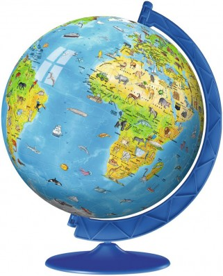 Puzzle glob Ravensburger - World Map in Italian, 180 piese (12340)