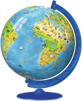 Puzzle glob Ravensburger - World Map in Spanish, 180 piese (12341)