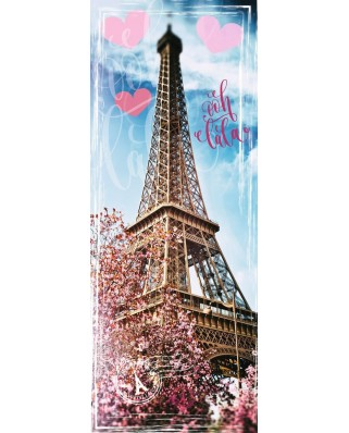 Puzzle panoramic Ravensburger - Eiffel Tower, 1.000 piese (15103)