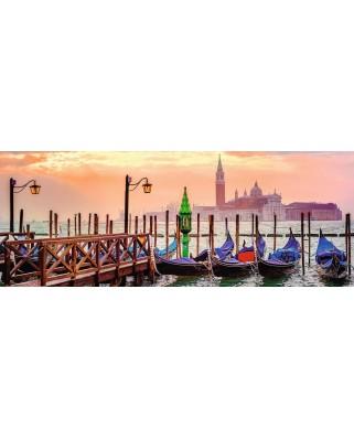 Puzzle panoramic Ravensburger - Gondolas in Venice, 1.000 piese (15082)
