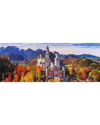 Puzzle panoramic Ravensburger - Neuschwanstein, 1.000 piese (15161)