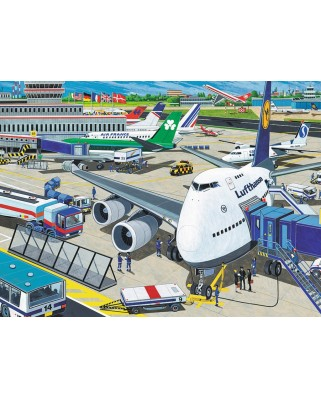 Puzzle Ravensburger - Airfield, 100 piese XXL (10763)