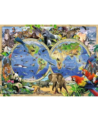 Puzzle Ravensburger - Animals of the World, 100 piese XXL (10540)