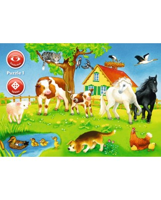 Puzzle Ravensburger - Animals Of The World, 3x35 piese (07501)