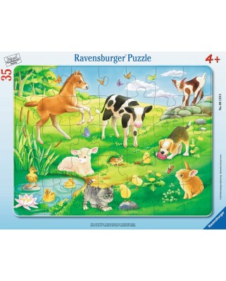 Puzzle Ravensburger - Animals on The Meadow, 35 piese (06119)