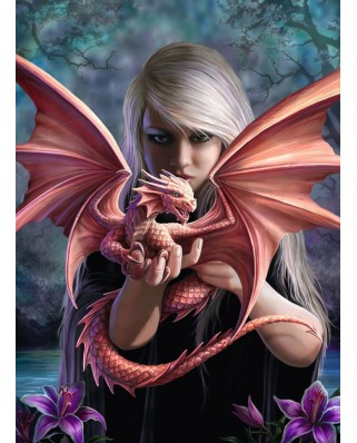 Puzzle Ravensburger - Anne Stokes: Dragon Daughter, 500 piese (14643)