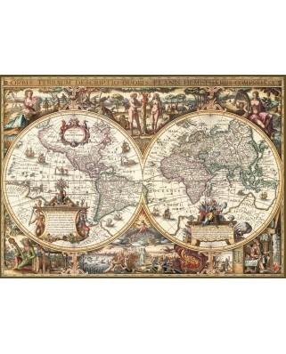 Puzzle Ravensburger - Antic Map of the World, 1.000 piese (19004)
