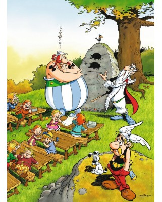 Puzzle Ravensburger - Asterix and Obelix - Schoolboy Obelix, 100 piese (10958)