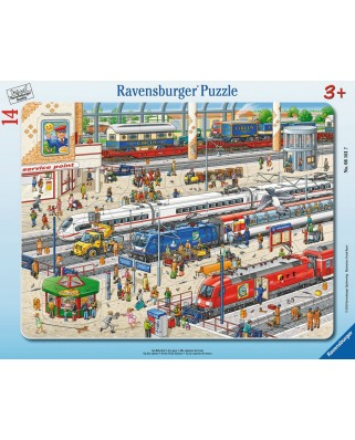 Puzzle Ravensburger - At the Train Station, 14 piese (06161)