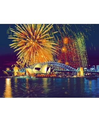 Puzzle Ravensburger - Australia, fireworks on Sydney, 2.000 piese (16622)
