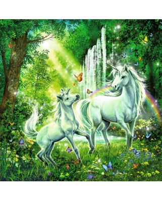 Puzzle Ravensburger - Beautiful Unicorn, 3x49 piese (09291)
