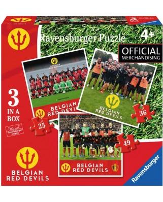 Puzzle Ravensburger - Belgian Red Devils 2016, 25/36/49 piese (06852)