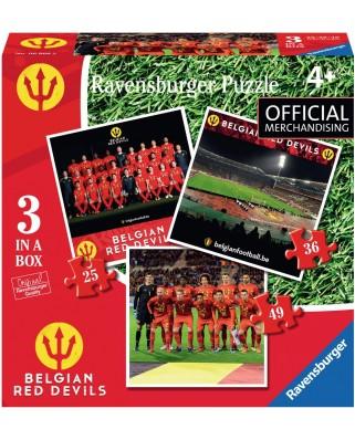Puzzle Ravensburger - Belgian Red Devils, 25/36/49 piese (06968)
