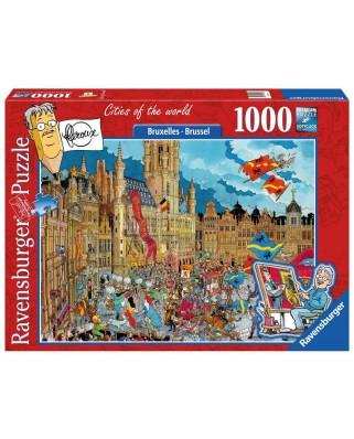 Puzzle Ravensburger - Brussel - Bruxelles, 1.000 piese (19895)